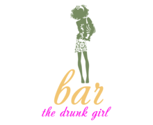 Bar Drunk Girl Logaster Logo