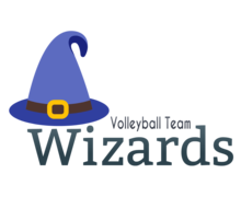 Wizards Volleyball Logaster logo