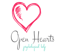 Open Hearts Psychological Help Logaster Logo