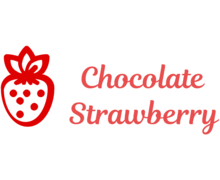 Chocolate Strawberry Logaster Logo